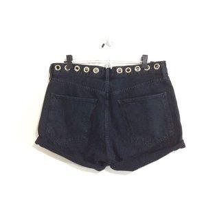 Agolde Shorts - Agolde High-Rise Cut-Off Studded Denim Shorts